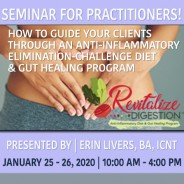 Revitalize Digestion Seminar for Practitioners, Students Welcome